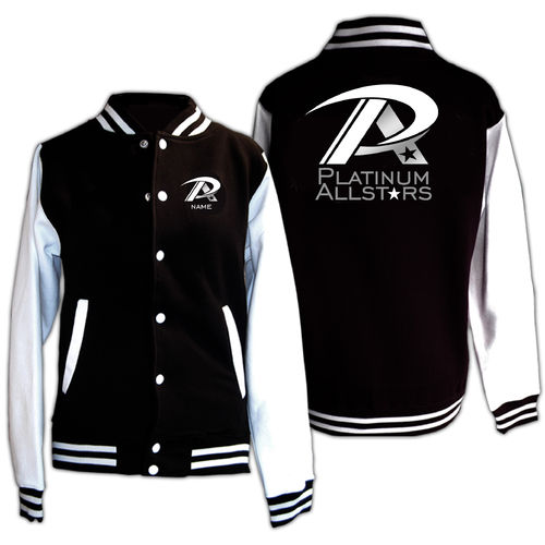 Platinum Allstars Varsity Jacket - Black