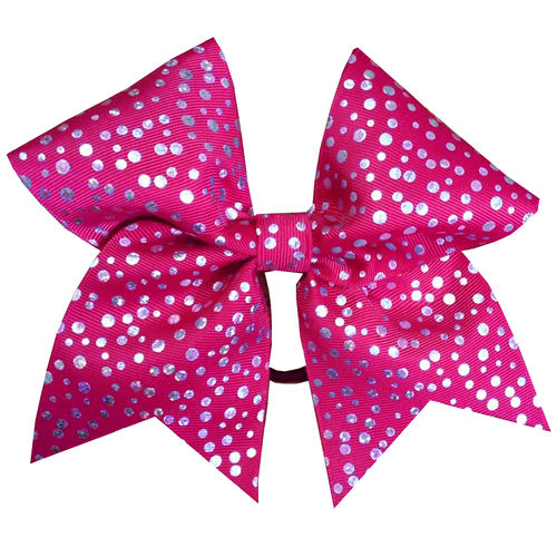 Pink Shimmer Dot Training Bow