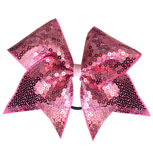 Sequin Rose Pink Training Bow
