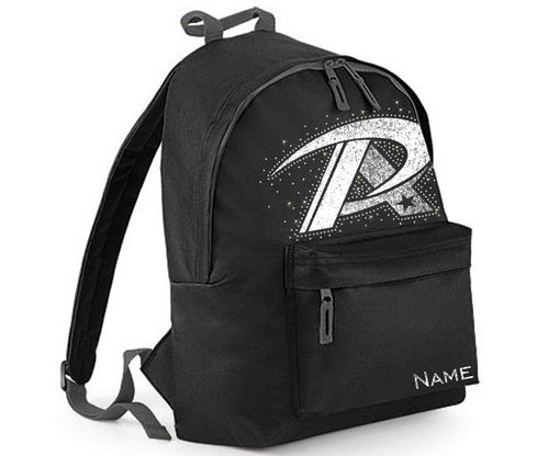 Platinum Allstars Backpack - BLACK with UNICORN CRYSTALS